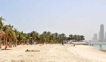 Sadaf Beach and Sharjah at Mamzar Beach Park in Dubai