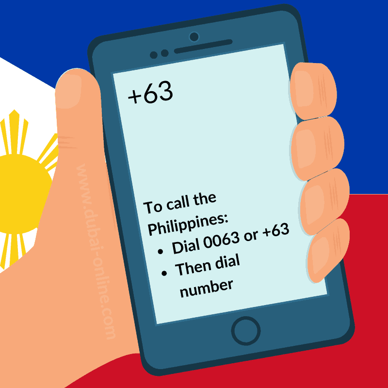 0063 +63 Philippines Country Code