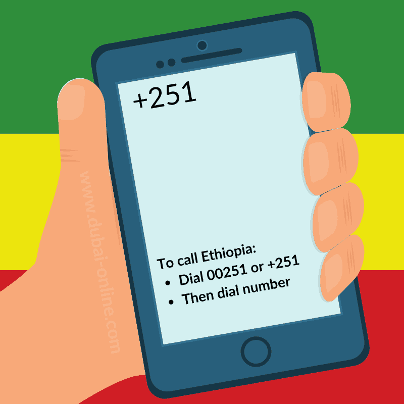 251 Country Code Ethiopia Dialling