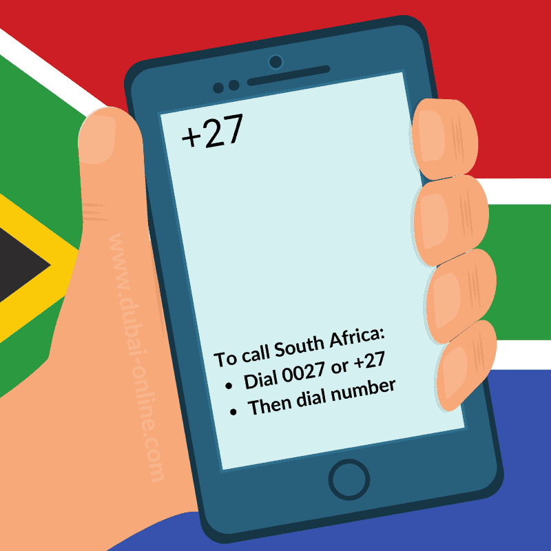 0027 +27 South Africa Country Code