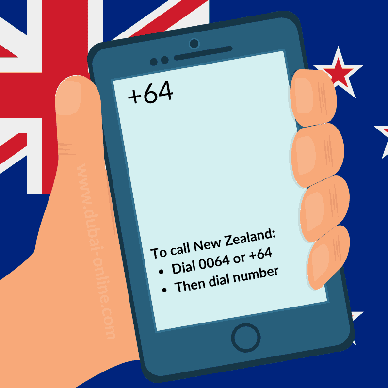 0064 +64 New Zealand Country Code