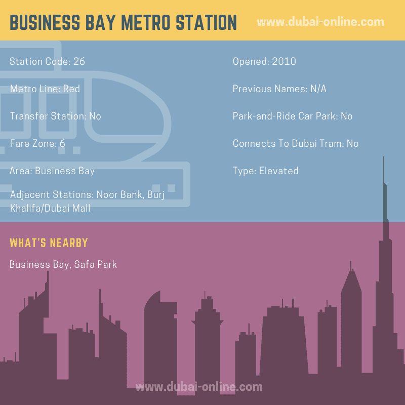 Information about Business Bay Metro Station in Dubai
