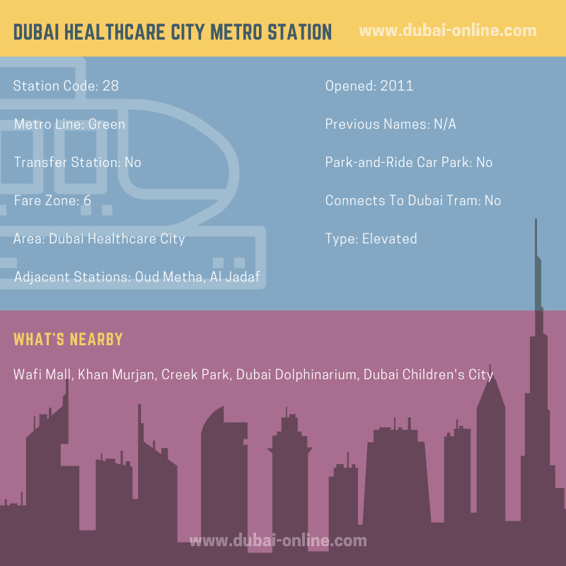 Information about Dubai Healthcare City Metro Station