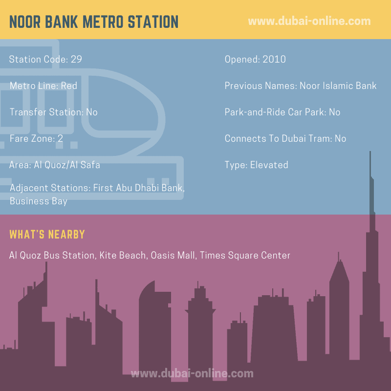 Information about Noor Bank Metro Station in Dubai