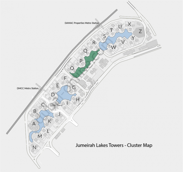 Jumeirah Lakes Towers - Cluster Map