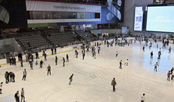 Public skating session at the Dubai Ice Rink at the Dubai Mall
